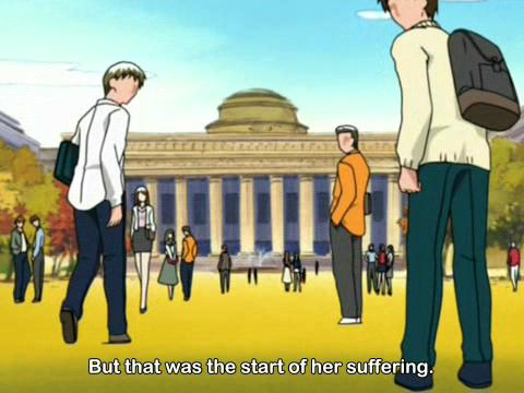 In Hanaukyo Maid Tai, episode 13, the character Shinshei goes to a leading, unnamed (yet recognizable) university.
