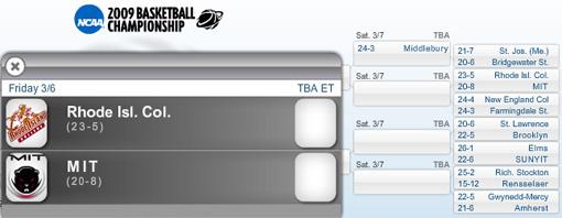 NCAA Division III brackets