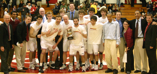 The Engineers celebrate their 2009 NEWMAC championship.