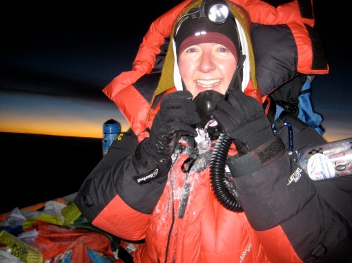 Val Hovland '98, SM '98 on Mt. Everest