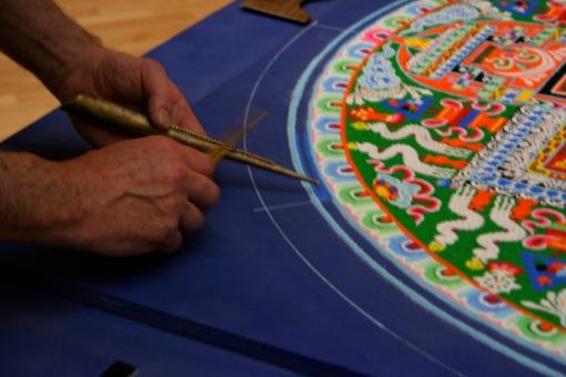 Mandala and monk