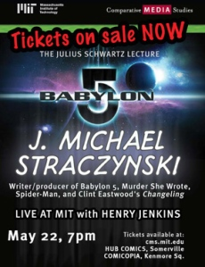 Poster for J. Michael Straczynski's lecture