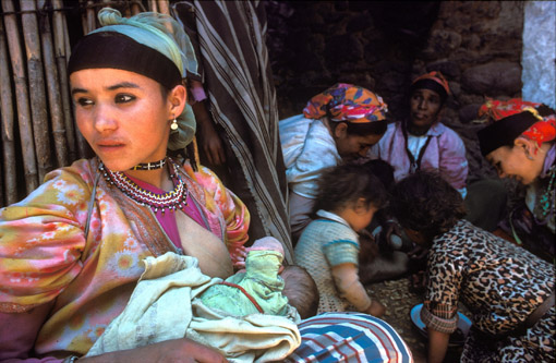 Berber family in the Moroccan Atlas mountains. (© Owen Franken)