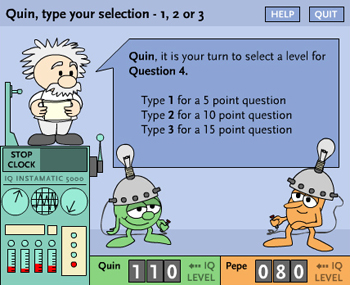 The Lemelson-MIT Program's game Brain Drain allows two players to face off or a single player to match wits with the computer.