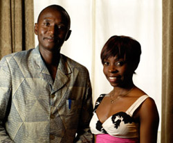 Zawadi Lemayian '09 (right) with her inspirational, award-winning teacher Lawrence Njoroge. Photo: Tanit Sakakini.