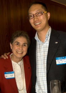 Toni Schuman '58 and Oliver Chow '93, MBA '97.