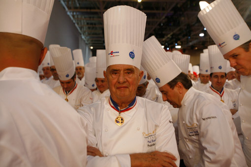 Chef Paul Bocuse at the Bocuse d'Or. (© Owen Franken/Photographed for the New York Times, January 27, 2009).