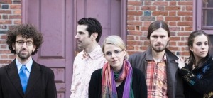 Gregory Liszt PhD '06, left, with theCrooked Still band.