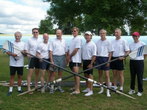 The crew after losing to Durham Boat Club (England).
