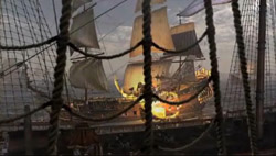 Some of the 3-D animation used to recreate battles in Broadside.