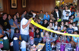 A demonstration for kids at the 2008 Cambridge Science Festival