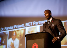 Randal Pinkett at a speaking engagement
