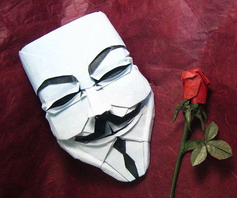 V for Vendetta origami
