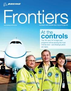 Tom Imrich, left, will test pilot a new Boeing aircraft.