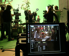 Previzion being used on set