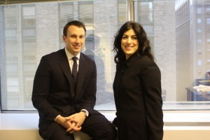 From left: Shane Torchiana and his externship sponsor, Umber Ahmad '94.