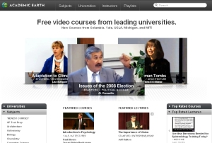 Academic Earth web site