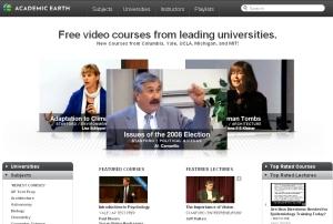 Academic Earth web site