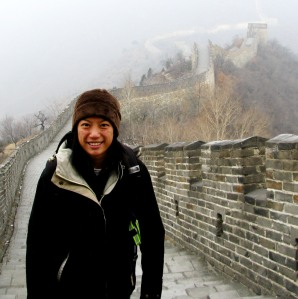 Shan Wu visiting China's Great Wall.