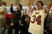 Fans at the MIT game.