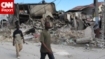 Earthquake destruction in Haiti.